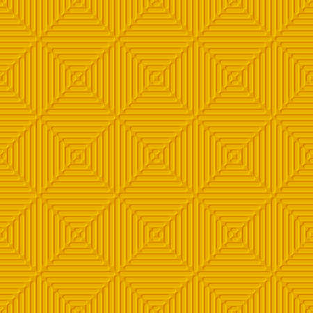 Seamless orange abstract background. Simple geometrical ornament  with embossed lines.
