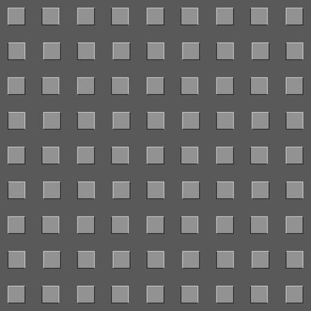 Abstract seamless background with embossed squares.