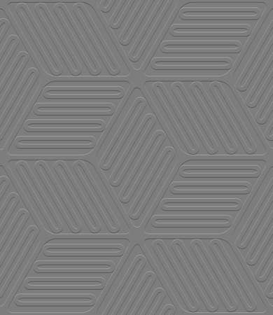 Abstract seamless background .Gray embossed lines and ovals.     Illustration