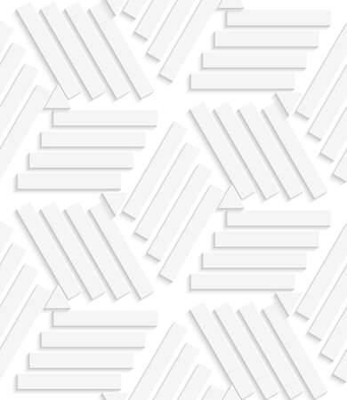 Abstract seamless background .White lines and triangles with realistic shadow and cut out of paper effect.   Çizim