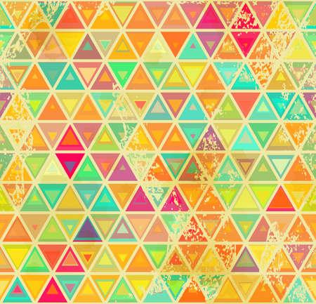 추상적 인 기하학적 완벽 한 배경입니다. 빈티지 색상 및 그레인 텍스처입니다.