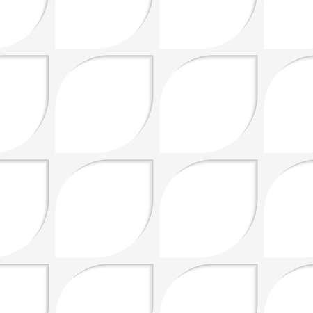 Abstract 3d seamless background. Simple oval net with cut out of paper effect.