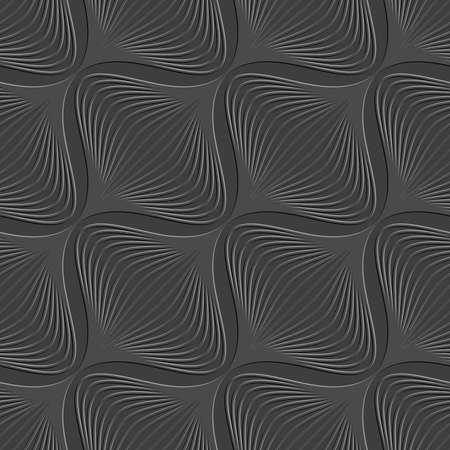 추상 3d 원활한 배경입니다. 엠보싱 효과와 어두운 기하학적 대각선 양파 모양의 패턴입니다. 일러스트