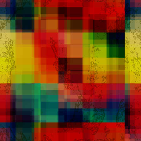 Abstract colorful seamless background. Rainbow colored old ganged blurred mosaic pattern.