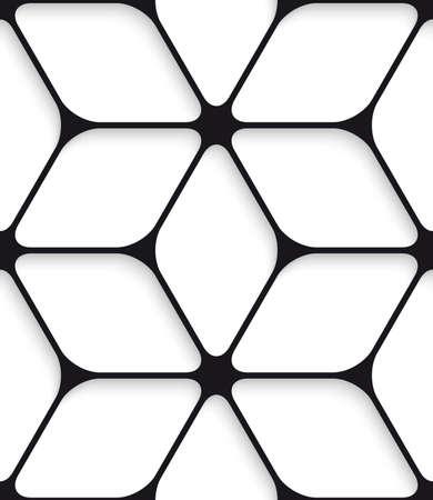 Black hexagon net with cut out of paper effect. Banco de Imagens - 30455801