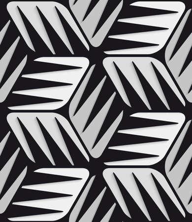 Gray 3d cubes striped with black. Ilustração