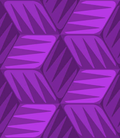 Purple 3d cubes striped with triangles. Banco de Imagens - 30455841
