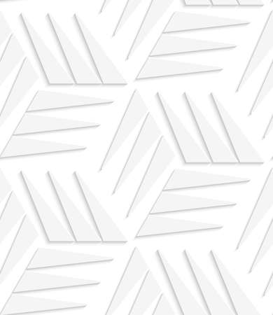 White triangle pattern cut out of paper effect. Banco de Imagens - 30455769