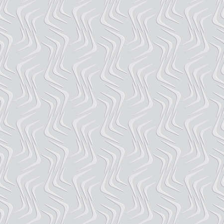 Seamless geometric background. Modern 3D texture. Pattern with realistic cold press paper texture effect.Geometrical ornament with embossed wavy shapes.