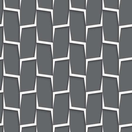 Naadloze geometrische achtergrond. Modern monochrome 3D textuur. Patroon met realistische schaduw en papier effect.Geometrical ornament gesneden met witte en grijze verticale lijnen net.