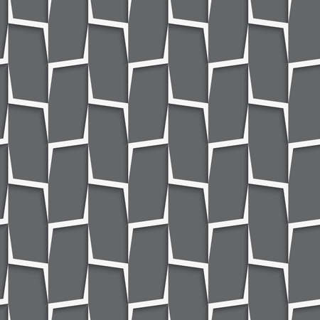 tile pattern: Seamless geometric background. Modern monochrome 3D texture. Pattern with realistic shadow and cut out of paper effect.Geometrical ornament with white and gray vertical lines net.