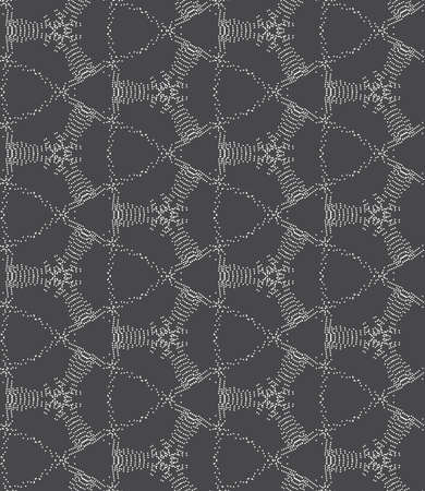 tillable: Seamless stylish geometric background. Modern abstract pattern. Flat monochrome design.Repeating ornament dotted complex net . Illustration