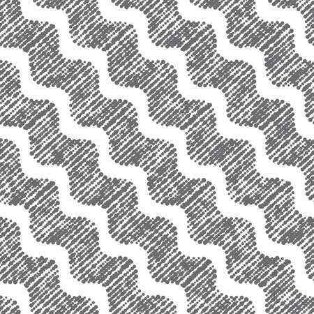diagonal: Seamless stylish geometric background. Modern abstract pattern. Flat monochrome design.Repeating ornament dotted diagonal wavy.