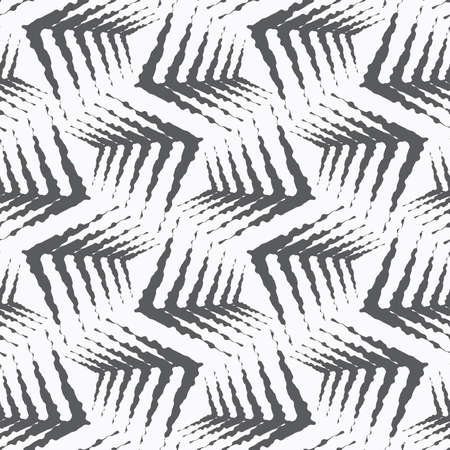 tillable: Seamless stylish geometric background. Modern abstract pattern. Flat monochrome design.Repeating ornament gray rough shapes.