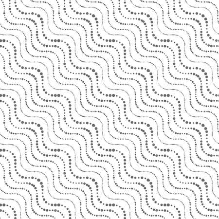 diagonal: Seamless stylish geometric background. Modern abstract pattern. Flat monochrome design.Repeating ornament of dotted wavy diagonal lines. Illustration