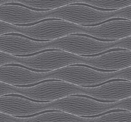 tillable: Seamless stylish geometric background. Modern abstract pattern. Flat monochrome design.Repeating ornament of many gray horizontal lines forming ripples.