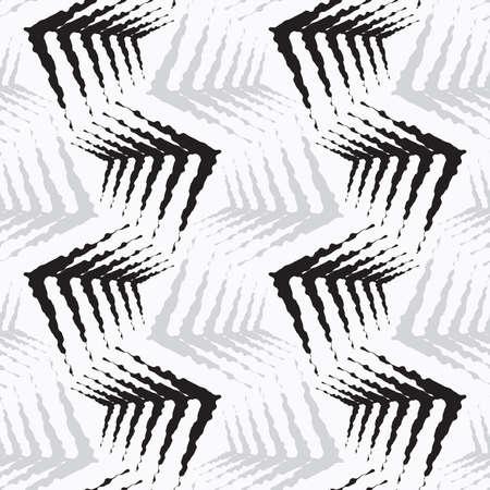 원활한 세련 된 형상 배경입니다. 현대 추상 패턴입니다. 플랫 흑백 디자인입니다. 거친 모양을 반복합니다.