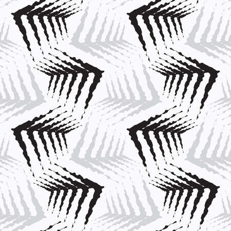 Seamless stylish geometric background. Modern abstract pattern. Flat monochrome design.Repeating  ornament rough shapes.