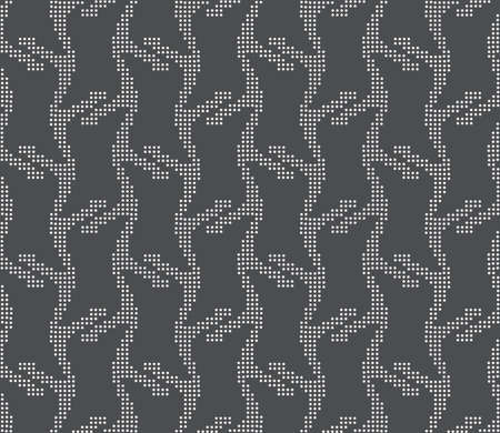 Seamless stylish geometric background. Modern abstract pattern. Flat monochrome design.Repeating ornament vertical dotted stripes on gray. Illustration