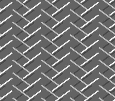 doubled: Seamless stylish geometric background. Modern abstract pattern. Flat monochrome design.Monochrome pattern with diagonal gray doubled stripes forming chevron.