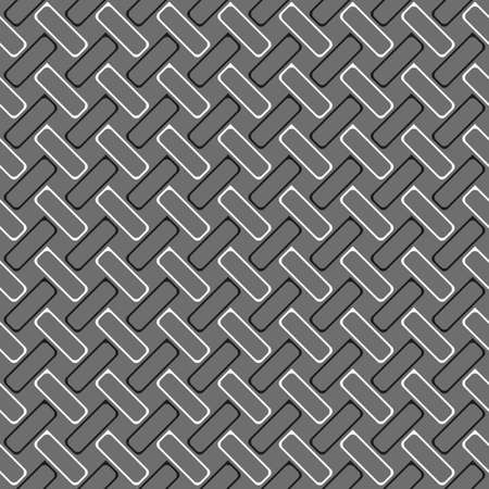 tillable: Seamless stylish geometric background. Modern abstract pattern. Flat monochrome design.Monochrome pattern with gray and black rectangles with rounders corners in diagonal order. Illustration