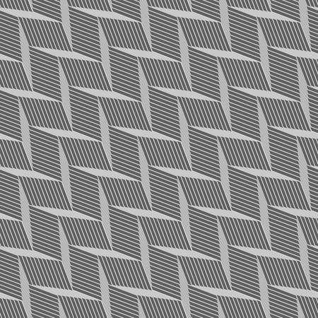 braid: Seamless stylish geometric background. Modern abstract pattern. Flat monochrome design.Monochrome pattern with gray braid grid.