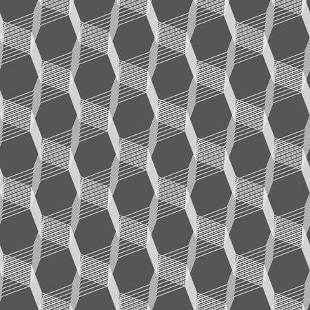 Seamless stylish geometric background. Modern abstract pattern. Flat monochrome design.Monochrome pattern with light gray intersecting thin lines on gray. Illustration