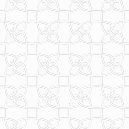 ritagliare: Sfondo geometrico senza soluzione di continuit�. Moderna trama monocromatico 3D. Pattern con ombra realistica e ritagliate di carta effect.3D ornamento circolare incastro.