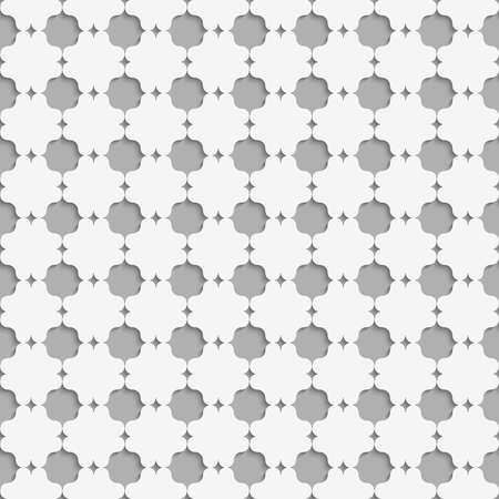 grid paper: Seamless geometric background. Modern monochrome 3D texture. Pattern with realistic shadow and cut out of paper effect.3D white eastern grid.