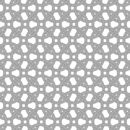 interlocking: Seamless stylish geometric background. Modern abstract pattern. Flat monochrome design.Dark gray circle interlocking ornament. Illustration