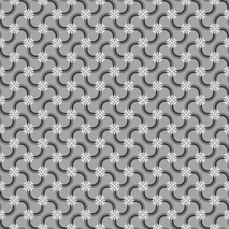 tillable: Seamless stylish geometric background. Modern abstract pattern. Flat monochrome design.Gray ornament with mosaic crosses and black details.