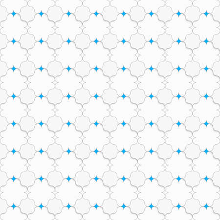 pointy: Seamless geometric background. Modern 3D texture. Pattern with realistic shadow and cut out of paper effect. Colored with blue pointy squares on white.