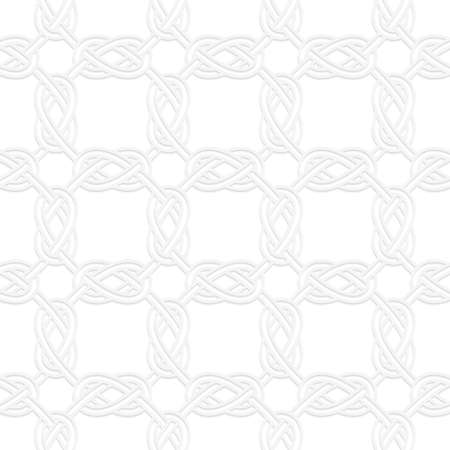 interlocked: Seamless geometric background. Modern monochrome 3D texture. Pattern with realistic shadow and cut out of paper effect.3D square interlocking ornament.