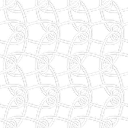 Seamless geometric background. Modern monochrome 3D texture. Pattern with realistic shadow and cut out of paper effect.3D vertical interlocking ornament.