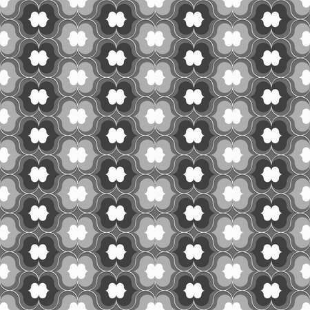 Seamless geometric background. Modern monochrome 3D texture. Pattern with realistic shadow and cut out of paper effect.3D white gray and black lip shapes.