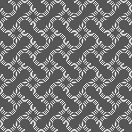 tillable: Seamless stylish geometric background. Modern abstract pattern. Flat monochrome design.Dark gray ornament with offset c shapes.