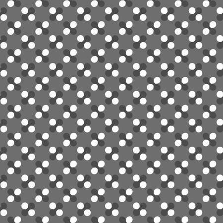 tillable: Seamless stylish geometric background. Modern abstract pattern. Flat monochrome design.Dark gray ornament with white circles and rounded shapes.