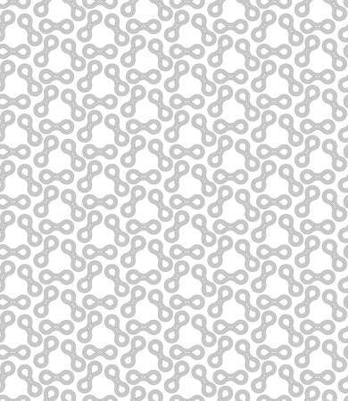 tillable: Seamless stylish geometric background. Modern abstract pattern. Flat monochrome design.Gray ornament with offset shapes. Illustration
