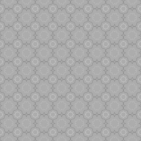 tillable: Seamless stylish geometric background. Modern abstract pattern. Flat monochrome design.Gray ornament with slim gray and black eastern grid.