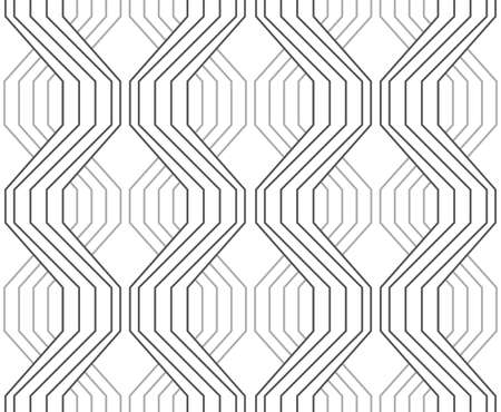 Seamless stylish geometric background. Modern abstract pattern. Flat monochrome design.Gray ornament with striped braids.