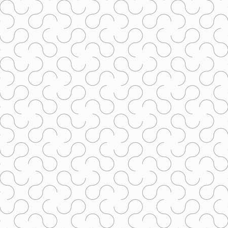 tillable: Seamless stylish geometric background. Modern abstract pattern. Flat monochrome design.Slim gray omega like shapes.