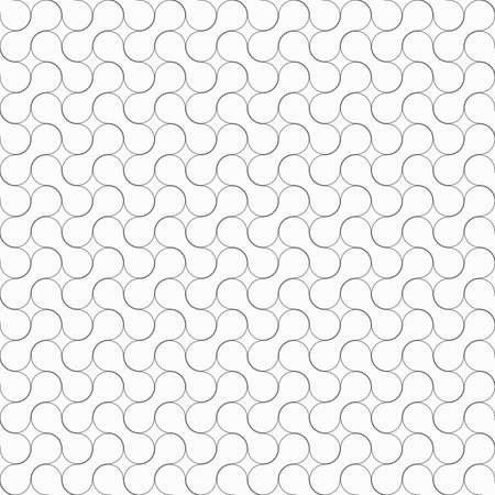 tillable: Seamless stylish geometric background. Modern abstract pattern. Flat monochrome design.Slim gray rounded shapes ornament.
