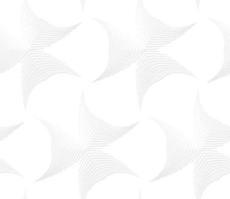 Seamless geometric background. Pattern with realistic shadow and cut out of paper effect.White 3d paper.3D white abstract pointy stripes shapes.