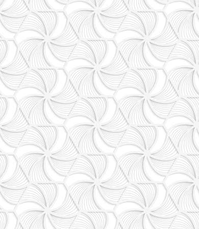 grid pattern: Seamless geometric background. Pattern with realistic shadow and cut out of paper effect.White 3d paper.3D white hexagonal grid with wavy stripes.