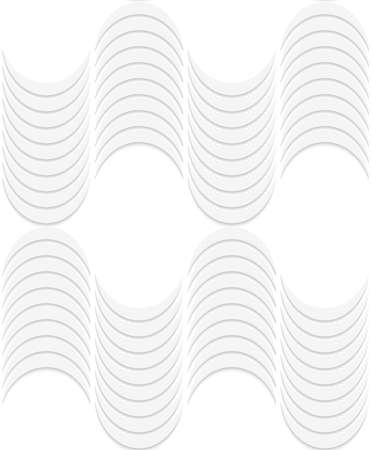 Seamless geometric background. Pattern with realistic shadow and cut out of paper effect.White 3d paper.3D white striped waves.