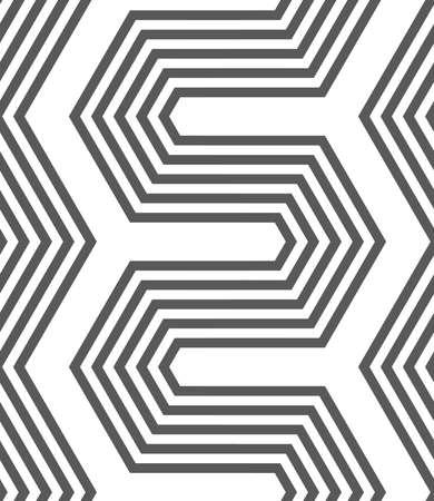 Naadloos geometrisch patroon. Grijs abstract geometrisch ontwerp. Plat zwart-wit ontwerp. Monochrome zeshoekige zigzag.