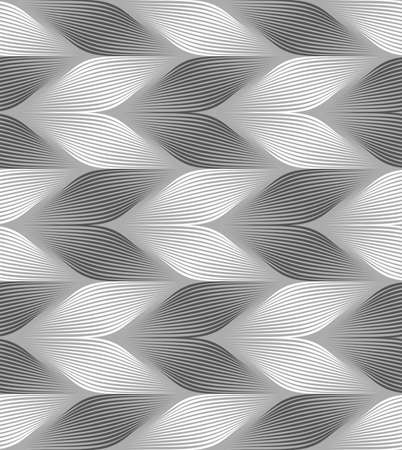 Seamless geometric pattern. Gray abstract geometrical design. Flat monochrome design.Monochrome striped light and dark chevron.
