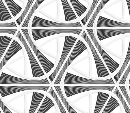 grid paper: Seamless geometric background. Pattern with realistic shadow and cut out of paper effect.Colored.3D colored gray striped triangular grid. Illustration