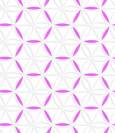 grid pattern: Seamless geometric background. Pattern with realistic shadow and cut out of paper effect.Colored.3D colored pink hexagonal grid. Illustration