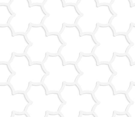 grid paper: Seamless geometric background. Pattern with realistic shadow and cut out of paper effect.White 3d paper.3D white abstract geometrical pointy flower grid.
